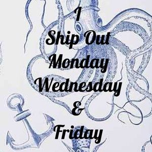 I ship packages Monday Wednesday and Friday!